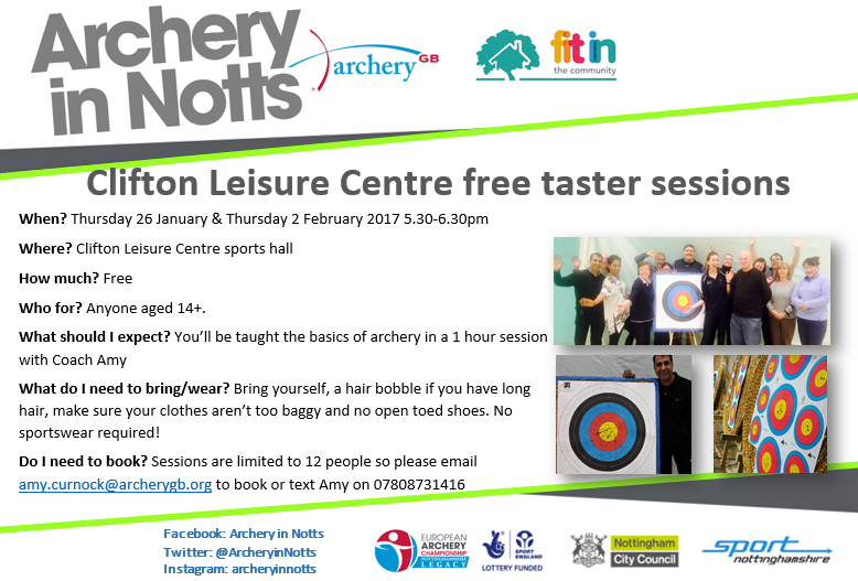 Free archery tasters at clifton leisure centre this girl can with clifton leisure centre free taster promotions social mediag solutioingenieria Image collections